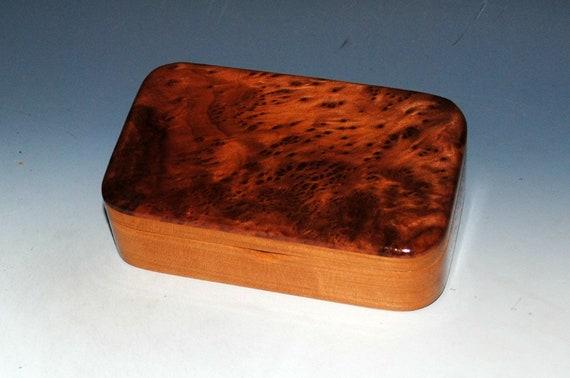 Redwood Burl on Cherry Wood Treasure Box - USA Made by BurlWoodBox