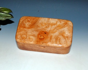 Handmade Wood Box - Treasure Box of Mahogany with Maple Burl  by BurlWoodBox - Keepsake Box, Gift Box, Jewelry Box, Wooden Box, Trinket Box
