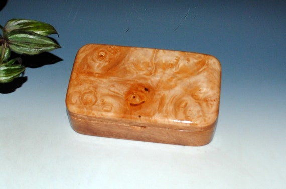 Handmade Wood Box - Treasure Box of Mahogany with Maple Burl  by BurlWoodBox - Keepsake Box, Gift Box, Jewelry Box, Wooden Box, Trinket Box