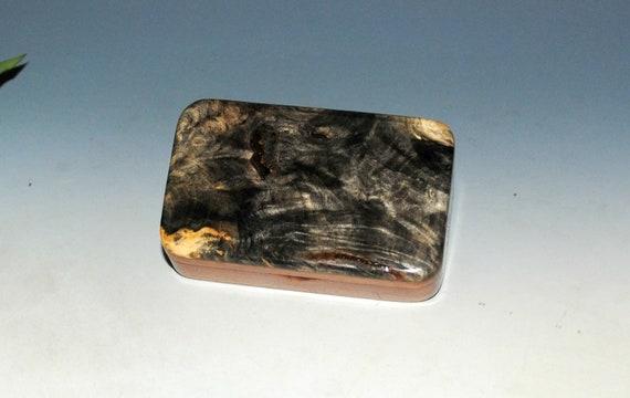 Tiny Wooden Box of Mahogany & Buckeye Burl Handmade by BurlWoodBox - Cute Little Gift Box !