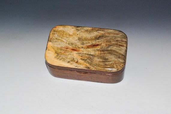 Buckeye Burl on Walnut Handmade Wooden Trinket Box - Handmade With Salvaged Walnut by BurlWoodBox in the USA - Christmas Gift