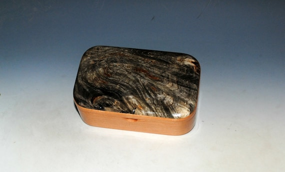 Wooden Trinket Box of Buckeye Burl on Cherry - Handmade Small Wood Box by BurlWoodBox - USA Made