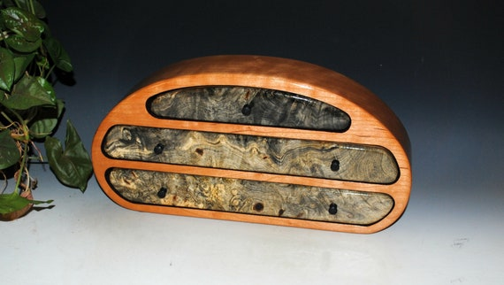 Wooden Jewelry Box of Buckeye Burl on Cherry - Handmade Wood Jewelry Box by BurlWoodBox - A Unique Box For Storage of Treasures or as a Gift