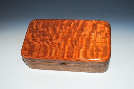Handmade Wooden Box - Small Wood Box of Lacewood and Walnut, Gift Presentation Box, Jewelry Box,  Keepsake Box - Gift Dad or Boyfriend