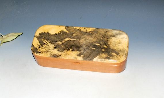 Wooden Pen Box of Buckeye Burl on Cherry - Handmade Wood Box For Jewelry, Desk or Other Treasures