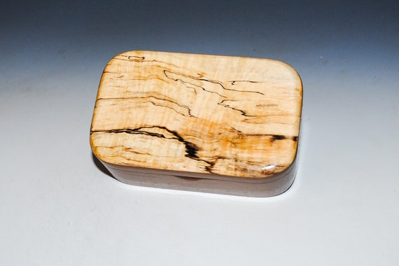 Handmade Spalted Maple on Walnut Wooden Trinket Box - USA Made Natural Hardwood Box by BurlWoodBox - Unique Gift !  Free Shipping