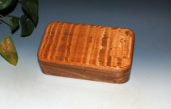 Handmade Wooden Box of Lacewood on Mahogany by BurlWoodBox