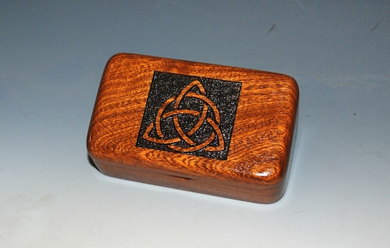 Triquetra Wooden Box - Handmade Small Wood Box- Trinity Knot- Celtic Triangle- Jewelry Box- Keepsake Box - Trinket Box - Gift Box- Ring Box