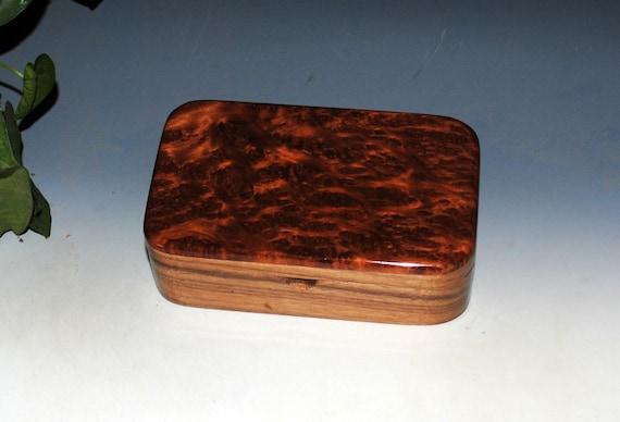 Wooden Treasue Box of Walnut & Redwood Burl - USA Made Small Wood Box by BurlWoodBox