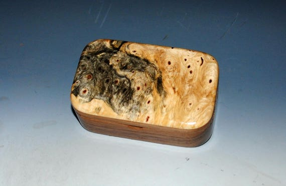 Buckeye Burl on Walnut Handmade Wooden Trinket Box - Handmade Jewelry Box by BurlWoodBox - Small Box, Keepsake Box, Treasure Box, Wood Boxes