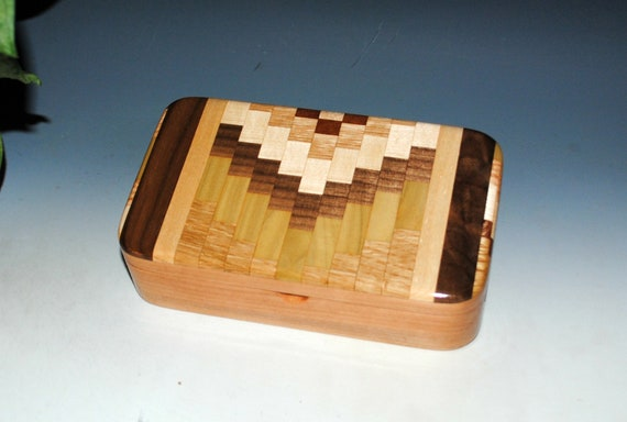 Handmade Wooden Box With Upcycled Cutting Board & Cherry by BurlWoodBox
