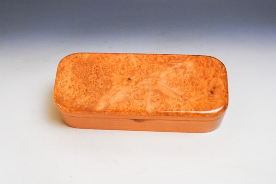 Handmade Wooden Box of Maple Burl on Cherry  - Pen Box Style Small Wood Box by BurlWoodBox - Great as a Gift or to Hold a Special Gift!