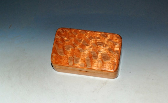 Very Small Wooden Box of Cherry & Lacewood Handmade by BurlWoodBox