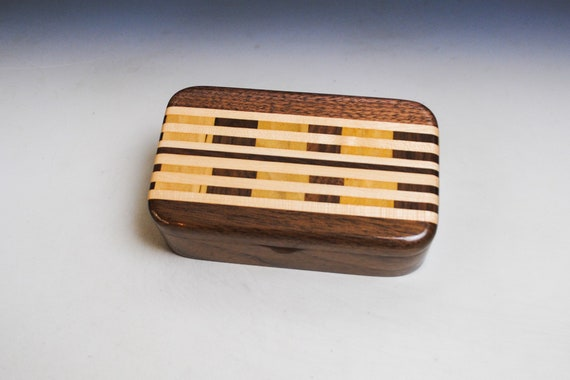 Wood Treasure Box of Walnut with Cutting Board Upcycled Wood by BurlWoodBox - Great Gift For Anyone For Any Occasion !