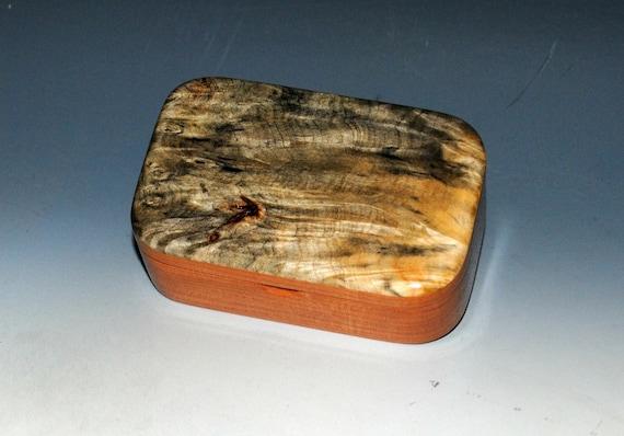 Handmade Wooden Trinket Box of Buckeye Burl on Cherry by BurlWoodBox - Handmade in the USA - Free Shipping