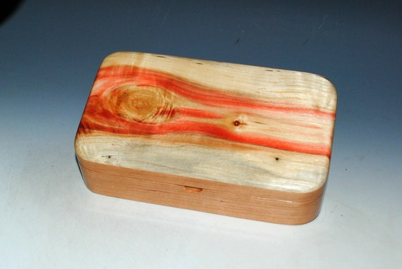 Wooden Box of Spalted Box Elder on Cherry - Handmade Wood Box by BurlWoodBox - Small Stash, Treasure or Jewelry Box