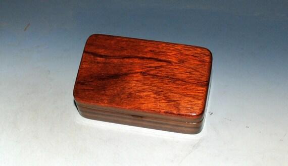 Bubinga on Walnut Handmade Tiny Wood Treasure Box - Gift Box, Wood Jewelry Box, Wood Keepsake Box by BurlWoodBox - Very Small Wood Box