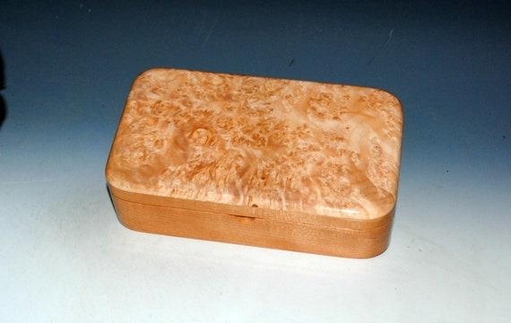 Wooden Box of Maple Burl on Cherry - Handmade Wood Box by BurlWoodBox - Small Stash, Treasure or Jewelry Box