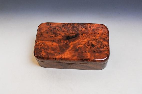 Wooden Treasue Box of Walnut & Redwood Burl - USA Made by BurlWoodBox - A Unique Handmade Gift!