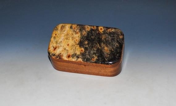 Buckeye Burl on Mahogany Handmade Wooden Trinket Box by BurlWoodBox - Christmas Gift !