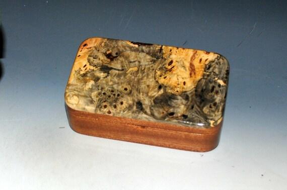 Handmade Wooden Treasure Box of Buckeye Burl on Mahogany by BurlWoodBox - USA Made