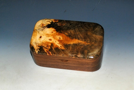 Wooden Box of Buckeye Burl on Walnut - Handmade Trinket Box by BurlWoodBox - Boxes Are Great Gifts !