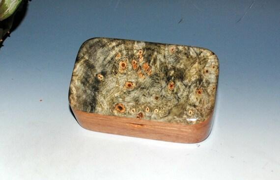 Buckeye Burl on Mahogany Handmade Wooden Trinket Box - Gift Box, Treasure Box, Jewelry Box, Business Card Box, Desk Box by BurlWoodBox