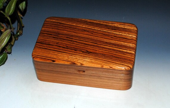 Zebrawood on Walnut Wooden Box - Stash Box - Guy Favorite -Jewelry Box - Wood Box, Keepsake Box, Gift Box, Handmade Box, Treasure Box, Boxes