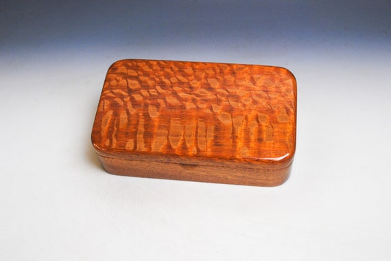 Handmade Wooden Box of Lacewood on Mahogany by BurlWoodBox