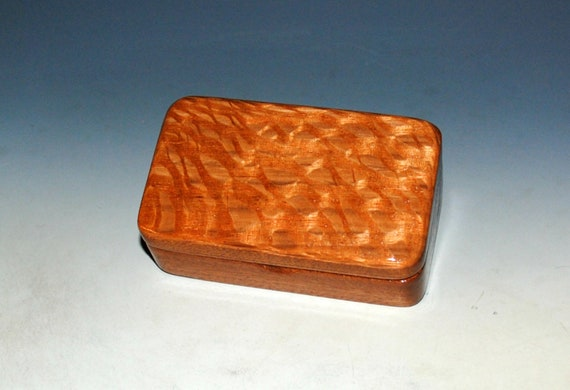 Very Small Wooden Box of Mahogany & Lacewood - Handmade in America by BurlWoodBox