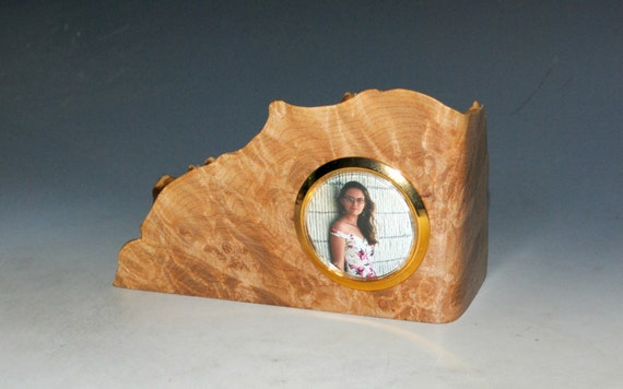 Maple Burl Picture Holder or Mini Frame - Handmade by BurlWoodBox - Small Wood Gift
