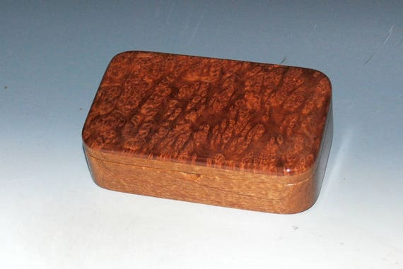 Wood Treasure Box - Mahogany with Redwood Burl-Wooden Box, Desk Box, Wood Box, Stash Box, Keepsake Box, Jewelry Box, Wood Gift, Handmade Box