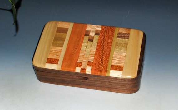 Handmade Wood  Box - Upcycled Cutting Board & Walnut by BurlWoodBox - Unique Gift!