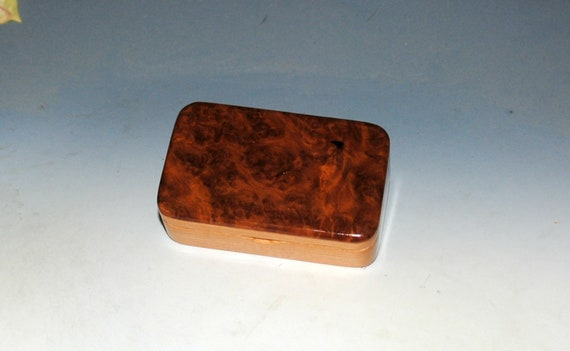 Small Wooden Box With Redwood Burl on Cherry - Handcrafted in The USA by BurlWoodBox