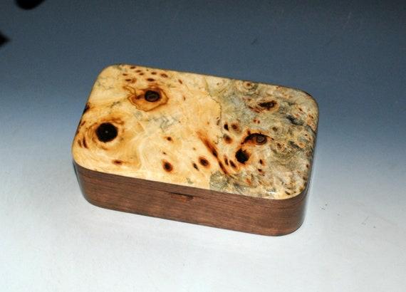 Wood Treasure Box of Buckeye Burl on Walnut - Handmade Wooden Box Made in the USA by BurlWoodBox