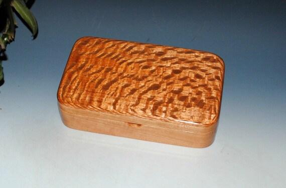 Handmade Wood  Box - Wooden Box of Lacewood on Cherry- Stash Box, Wooden Jewelry Box - Small Jewelry Box, Wood Box Lid, Keepsake Box, Boxes