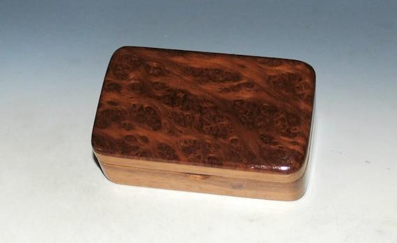 Redwood Burl on Walnut Handmade Tiny Wood Treasure Box - Gift Box, Wood Jewelry Box, Wood Keepsake Box by BurlWoodBox - Very Small Wood Box