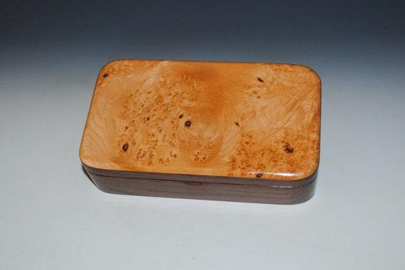 Handmade Wood Box of Maple Burl on Walnut - USA Made by BurlWoodBox - Graduation or Birthday Gift!