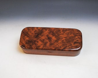 Wooden Pen Box of Redwood Burl on Mahogany by BurlWoodBox - Great For Jewelry - Handmade Gift