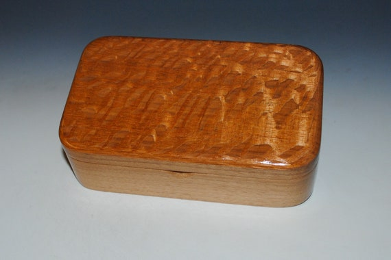 Small Wooden Treasure Box of Lacewood on Walnut by BurlWoodBox - Great Gift For Men!