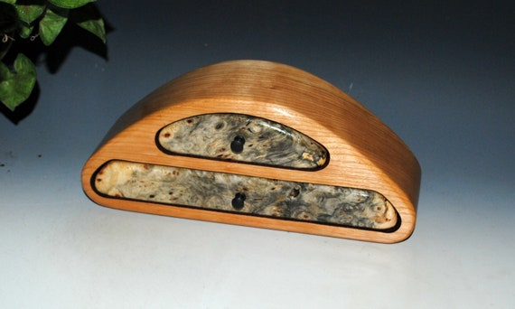 Buckeye Burl on Cherry Two Drawer Handmade Wood Jewelry Box by BurlWoodBox