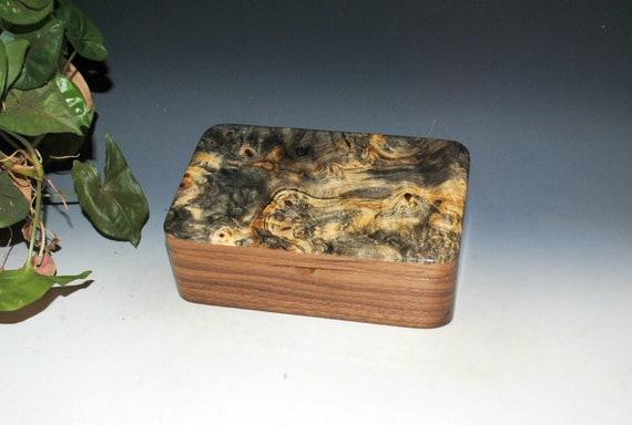 Wooden Stash Box of Buckeye Burl On Walnut -  THE Guy Favorite !