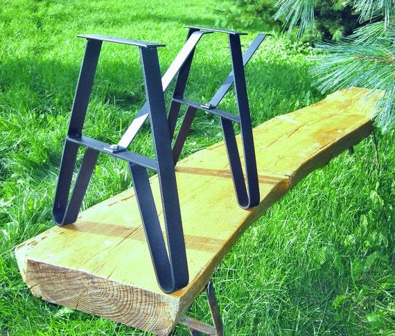 Steel Coffee Table Legs Uk: Metal Legs For Live Edge Slab Bench Or Coffee Table