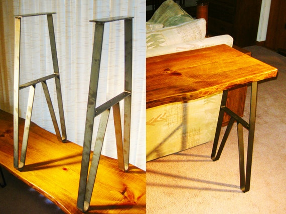 Industrial home sofaconsole table metal legs buffet table etsy image 0 watchthetrailerfo