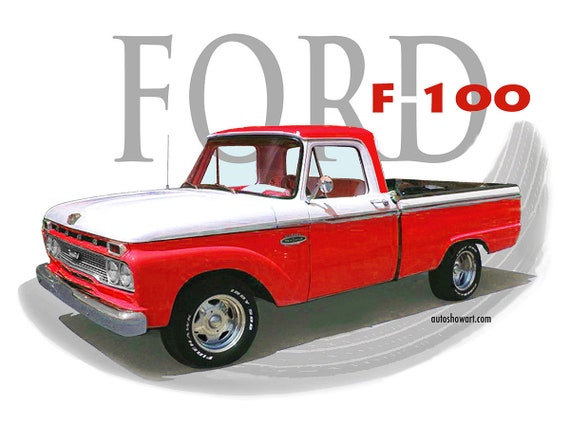 T Shirt 66 Ford F100 4xl Size Etsy