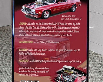 Your Car Show Board 20x28 inch with Tripod