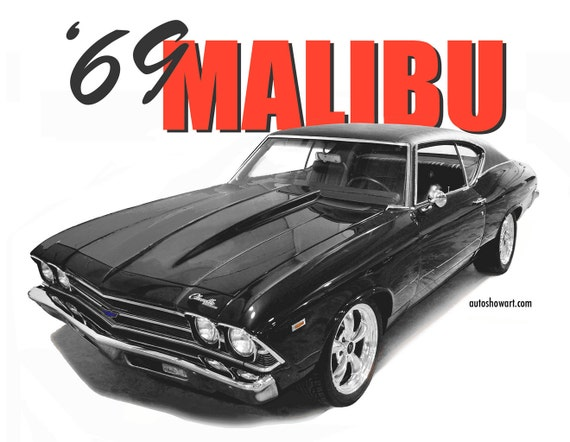 1969 Chevrolet Malibu T Shirt Etsy