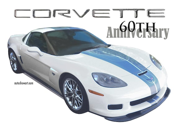 t shirt collectors edition corvette 60th anniversary etsy etsy