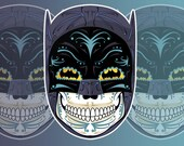 1960 39 s Batman Sugar Skull 3x4 Vinyl Sticker