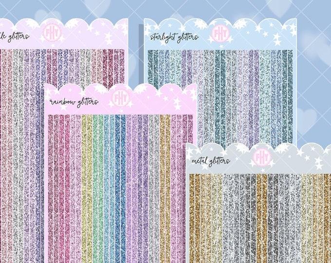 Hobo Weeks Thin Glitter Strips - Sold Per Sheet
